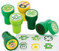Pack of 6 - Plastic St Patricks Day Self Ink Stampers - Great Party Bag Fillers