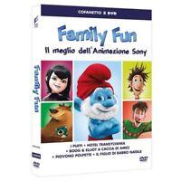 Family Fun - Il Meglio Dell'Animazione Sony - Cofanetto 5 Dvd - Nuovo