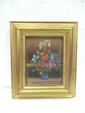 "Tableau, peinture miniature : "" Pot de fleurs """