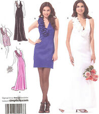 PATTERN for Jessica McClintock Simplicity 2213 Pageant Formal PROM dress 4 - 12
