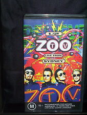 U2 ZOO - LIVE FROM SYDNEY - VHS VIDEO