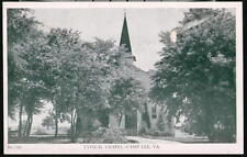 CAMP LEE VA Typical Chapel Vintage B&W Military Postcard Old Virginia PC