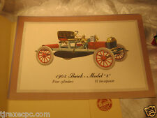 Buick Dealer Promo Litho Prints of Early Automobiles. 1914 Model B 37 21 Model A