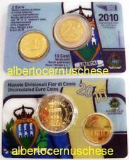 2010 10 cts + 2 euro coin card SAINT MARIN san marino Сан - Марино