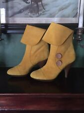 DKNY Yellow Ankle Boots
