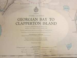 Canadian Hydrographic Chart   1971  Georgian Bay to Clapperton Island