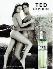 PUBLICITE ADVERTISING 126  1999  eau toilette homme & femme Ted Lapidus nus 2