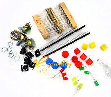 Kit de Piezas Electrónicas para componente Arduino resistencias de interruptor botón