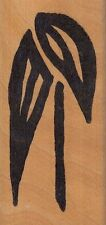 """leaf 4631 hot potatoes Wood Mounted Rubber Stamp 1 1/2 x 3""""  Free Shipping"""