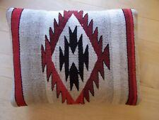 """Southwestern Deco Zapotec Mexico Handwoven Wool Textile Pillow 12"""" x 16"""" Euc"""