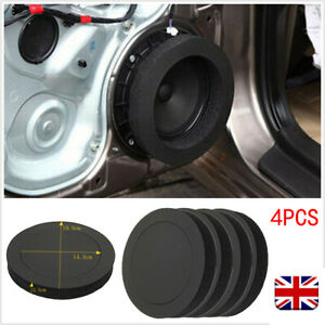 """4x Black 6.5"""" Foam Rings Car Door Speaker Enhancer System Kit Universal"""