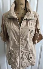 CHICO'S Khaki Cotton Safari Style Jacket SZ 3 L/XL 16-18