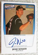 Cincinnatti Reds Jesse Winker 2011 Bowman Perfect Game Auto Card #044/225