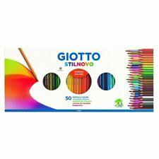Giotto Stilnovo Set di Matite Colorate 50 Pezzi con Temperamatite - Multicolore