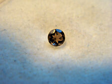 Smoky Quartz Round cut Gemstone 2.5 mm 0.09 carats Natural Gem
