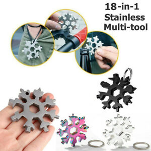 18in1 Snowflake Tool Function Stainless Allen Key Screwdriver Wrench Opener