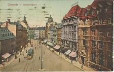 Chemnitz, Johannisplatz mit Straßenbahn, alte Ansichtskarte von 1919