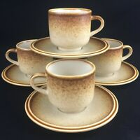 Set of 4 VTG Cups and Saucers by Premiere Stoneware Country Casuals F5800 Japan