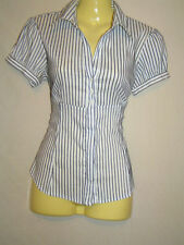 Cotton Blend Button Down Shirt Petite Tops for Women