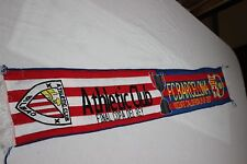 BUFANDA VINTAGE FINAL COPA DEL REY.2012 ATHLETIC BILBAO-FC BARCELONA  SCARF