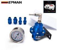 BLUE Adjustable Fuel Pressure Regulator TYPE S *Skyline STI FPV XR6 Turbo V8 Reg