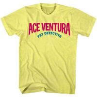 Ace Ventura Pet Detective Movie Logo Men's T Shirt Jim Carrey 90s Comedy Top