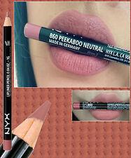 Nyx Lápiz Delineador Labios Fino ~ abre los ojos neutral ~ Rosa Marrón Natural ~ SPL860