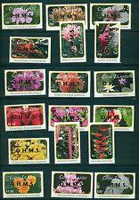 Cook Islands 2010 Flower definitive set with OHMS gold opt #O70-87 MNH CV $94.10