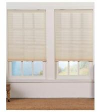 ASSORTED SIZES Perfect Lift Ecru Cordless Light Filtering Pleated Shade