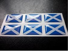 6 X Saltire Flag Resin 3D Domed Scotland Sticker label 27mm x 16mm waterproof