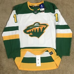 Adidas Zach Parise Minnesota Wild Reverse Retro NHL Hockey Jersey White 50