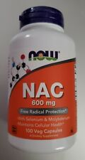 NOW Foods NAC 600mg 100 Vcaps EXP: 04/2024
