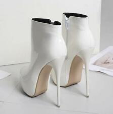 Womens 16cm Sz41-47 Sexy Ankle Boots Stilettos Patent leather High Heel Shoes