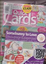 QUICK CARDS MADE EASY MAGAZINE SEPT 2013, SEALED W/FREE DECOUPAGE & PAPER PAD.
