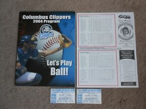 '04 Columbus Clippers Minor League Baseball Program New York Yankees Ticket Stub