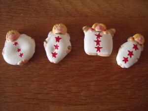Streudeko, Basteln, Weihnachtsdeko, 4 Dekofiguren Engel