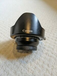 Canon WD-58 wide-angle converter with hood