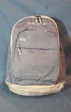 """Quicksilver Dart Backpack Grey Beige Polyester Blend 19"""" Tall Zippered NEW!"""