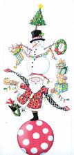 Mary Engelbreit-All You Can Handle Santa Snowman Christmas Card-New w/envelope