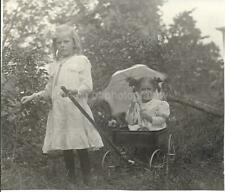 Sweet Portrait Of Little Girls Found Photo Color Free Shipping Antique 911 7 N