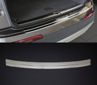 Audi Q7 4M 2015Up Chrome Rear Bumper Protector Scratch Guard S.Steel