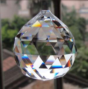 60mm Chandelier Lamp Crystal Ball Prism Hanging Drops Suncatcher Pendant DIY
