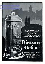Riessner Ofen Nürnberg Reklame 1913 Silhouette Nürnberg Dauerbrandofen Werbung