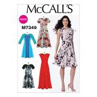 McCALL'S SEWING PATTERN MISSES' PULLOVER DRESS SIZES 6 - 22 M7349