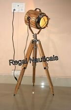 Nautical chrome Finish Floor Lamp With Adjustable Tripod For Your HOME & OFFICE