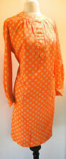 1970 Designer Polka Dot Split Front Shift Dress L Deadstock New Vintage Canadian