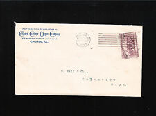 Chicago Cottage Organ Co 1893 IL 2c Columbian Machine Cancel Broken Hat Cover +
