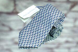 Vineyard Vines Boy's Tie Navy White Whale Geometric Luxury Silk Necktie New