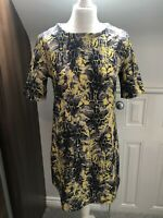 River Island Yellow Brown Animal Print Pull On Dress Size 10