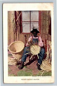 Jamestown Exposition 1907 No. 156 - Negro Basket-Maker - Official Postcard